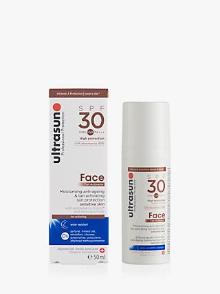 Ultrasun SPF 30 Face Tan Activator, 50ml