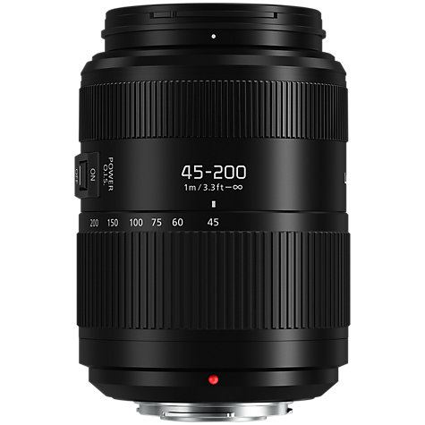 Buy Panasonic Lumix G VARIO 45-200mm f/4.0-5.6 II Power OIS Telephoto Lens Online at johnlewis.com