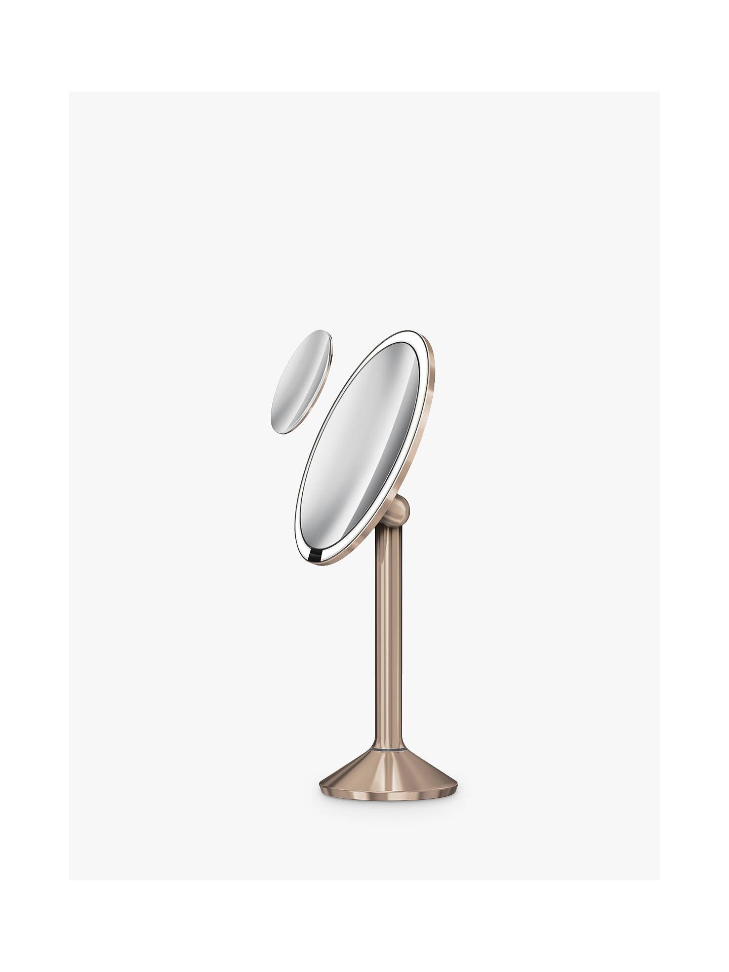 Simplehuman Sensor Pro Bathroom Mirror Rose Gold At Johnlewis Com