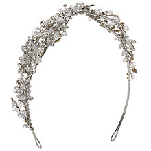 Buy Ivory & Co. Euphoria Crystal and Cubic Zirconia Side Tiara, Silver Online at johnlewis.com
