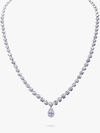 Ivory & Co. Limelight Graduating Cubic Zirconia Pave Necklace, Silver