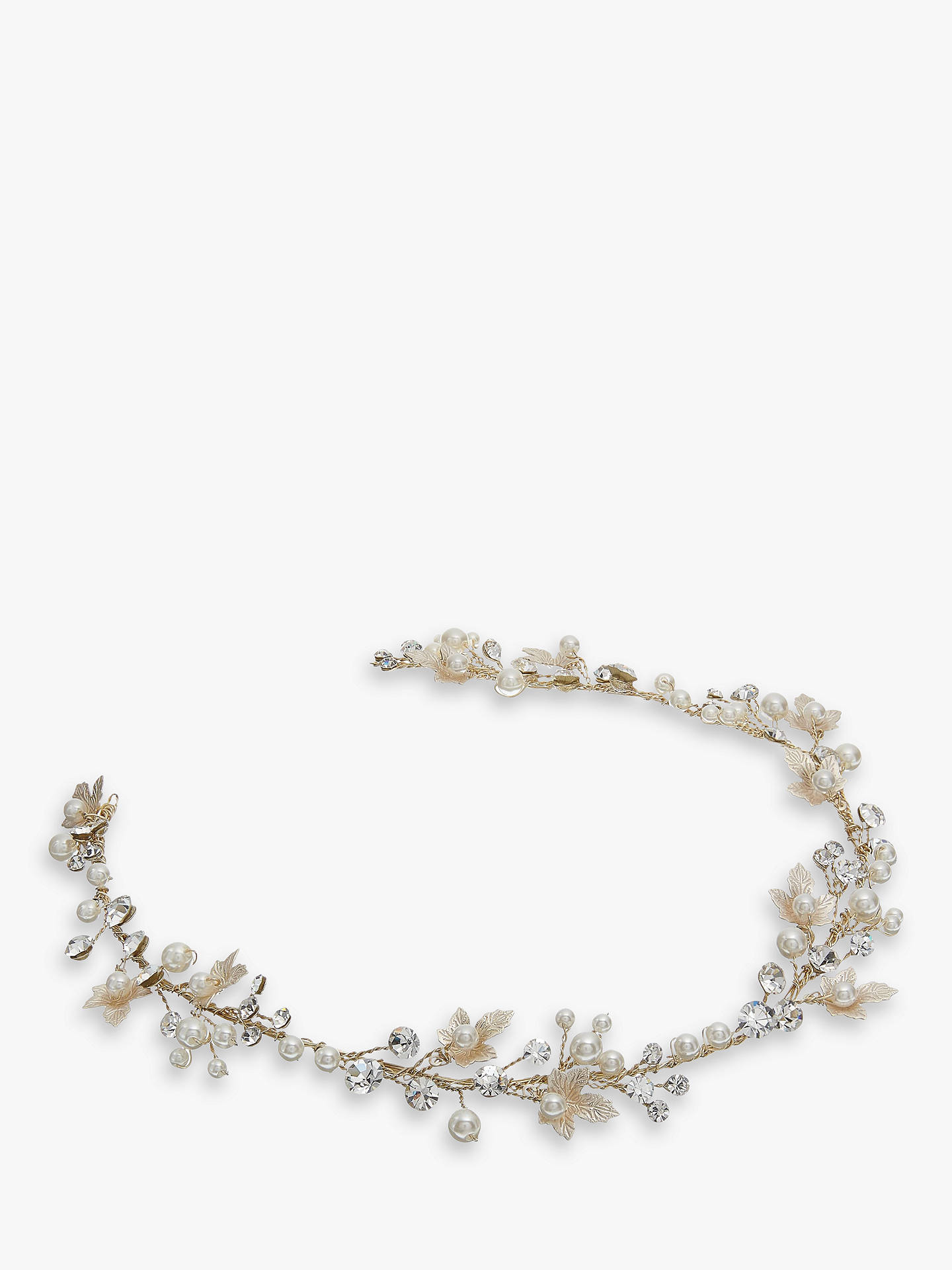 Maple Blossom Freshwater Pearl and Crystal Hair Vine, Gold Online ...