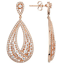 Buy Ivory & Co. Twilight Statement Teardrop Earrings, Rose Gold Online at johnlewis.com