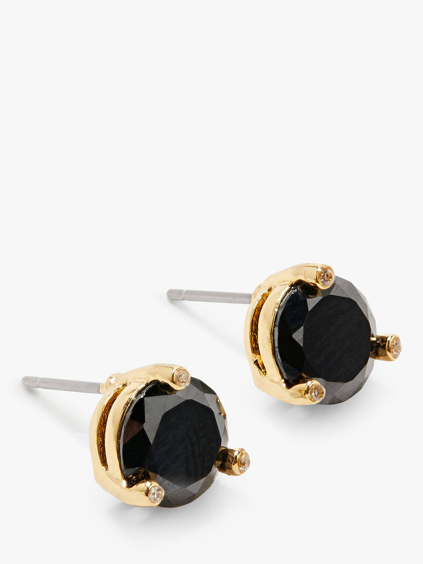 e75e6bede Buy kate spade new york Cubic Zirconia Round Stud Earrings, Jet Online at  johnlewis.