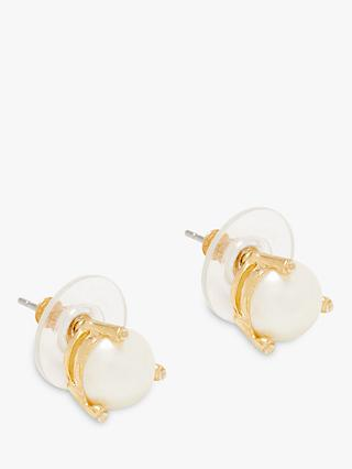 kate spade new york Faux Pearl and Cubic Zirconia Stud Earrings, Cream