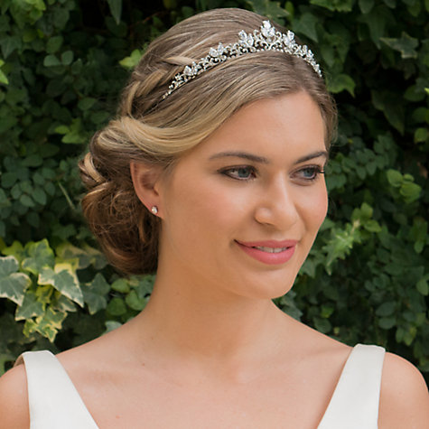 Buy Ivory & Co. Eternal Love Pave Cubic Zirconia Tiara, Silver Online at johnlewis.com