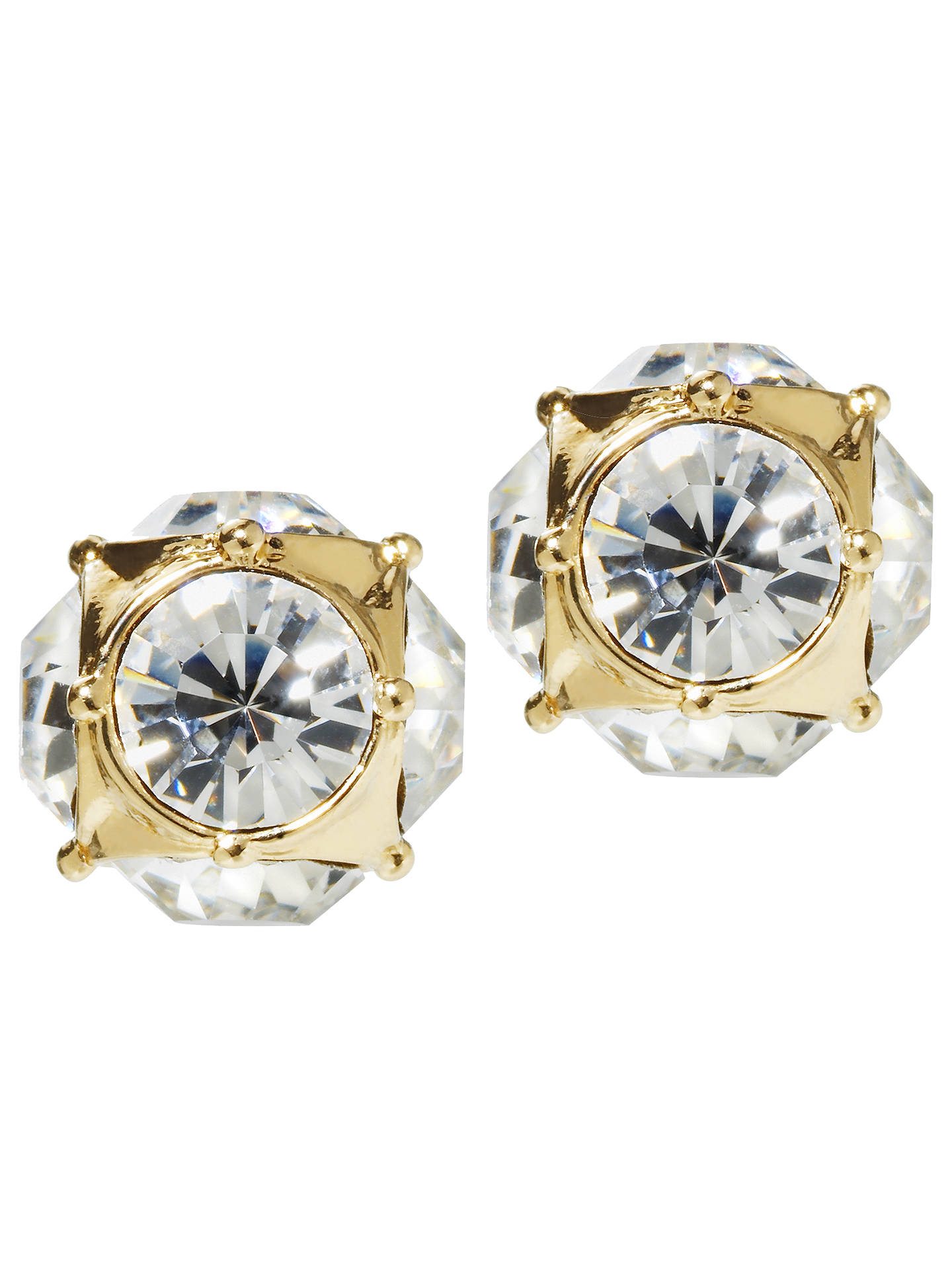 b2fc27cc3 Buy kate spade new york Lady Marmalade Stud Earrings, Gold/Clear Online at  johnlewis