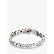 Buy Ivory & Co. Icon Marquise Cubic Zirconia Bracelet, Silver Online at johnlewis.com