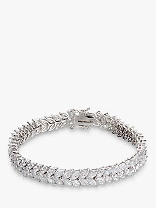 Ivory & Co. Icon Marquise Cubic Zirconia Bracelet, Silver