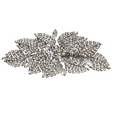 Buy Ivory & Co. Honesty Cubic Zirconia Pave Leaf Hair Slide, Silver Online at johnlewis.com