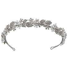 Buy Ivory & Co. Nightsky Crystal and Cubic Zirconia Pave Tiara, Silver Online at johnlewis.com
