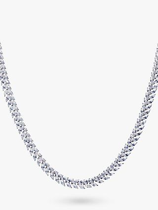 Ivory & Co. Icon Marquise Cubic Zirconia Collar Necklace, Silver
