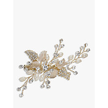 Buy Ivory & Co. Honeyblossom Crystal and Freshwater Pearl Hair Slide, Gold Online at johnlewis.com