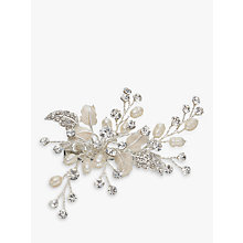 Buy Ivory & Co. Small Flower Crystal and Freshwater Pearl Hair Slide, Silver Online at johnlewis.com