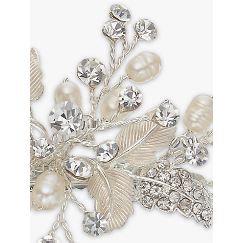 Buy Ivory & Co. Orchid Small Flower Crystal and Freshwater Pearl Hair Slide, Silver Online at johnlewis.com