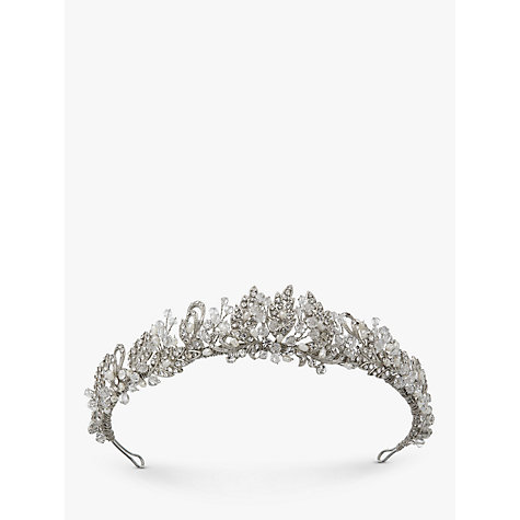 Buy Ivory & Co. Vintage Lace Freshwater Pearl and Cubic Zirconia Pave Tiara, Silver Online at johnlewis.com