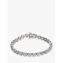 Buy Ivory & Co. Classique Round Cubic Zirconia Pave Tennis Bracelet, Silver Online at johnlewis.com