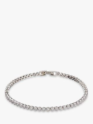 Ivory & Co. Silhouette Round Cubic Zirconia Tennis Bracelet, Silver