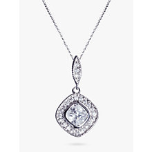 Buy Ivory & Co. Square Cubic Zirconia Pave Pendant Necklace Online at johnlewis.com