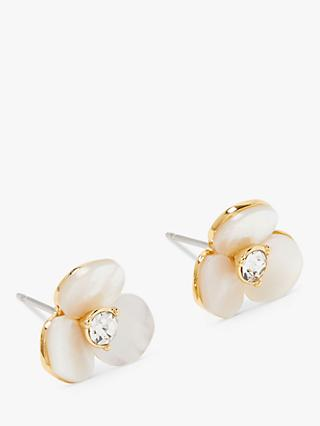 kate spade new york Disco Pansy Flower Stud Earrings, Clear