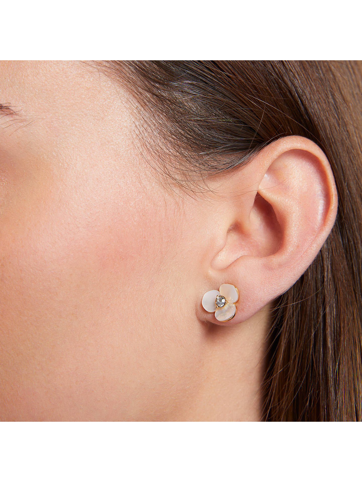 Buy kate spade new york Disco Pansy Flower Stud Earrings, Clear Online at johnlewis.com