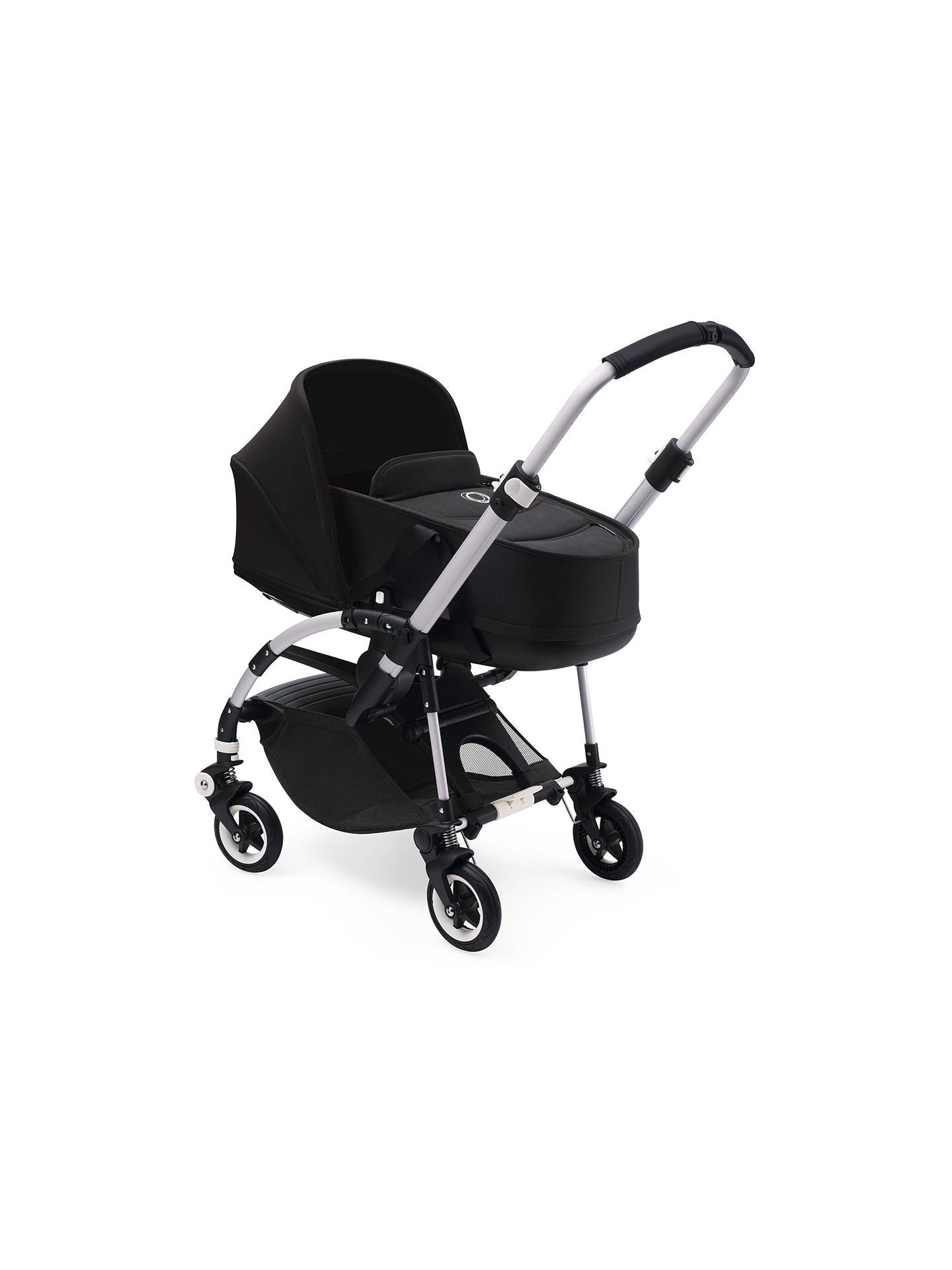 BuyBugaboo Bee 5 Carrycot Fabric, Black Online at johnlewis.com