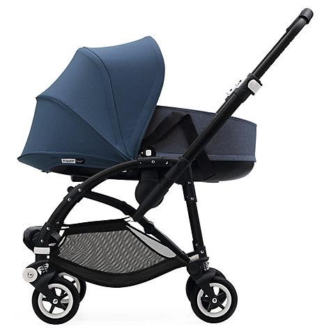 buy bugaboo bee 5 carrycot fabric blue melange john lewis. Black Bedroom Furniture Sets. Home Design Ideas