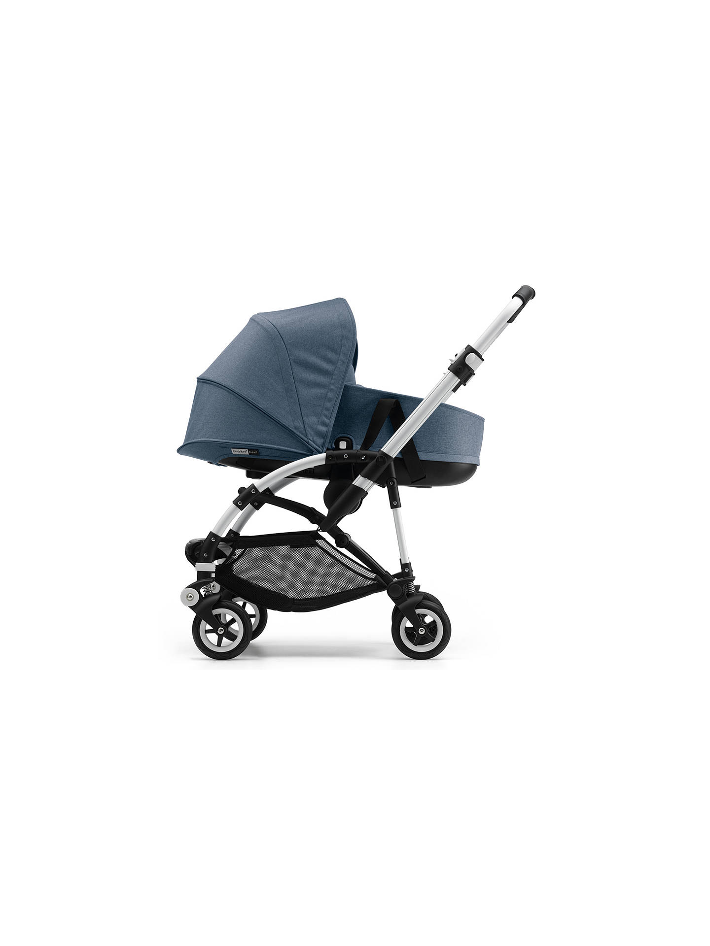 Buy Bugaboo Bee 5 Carrycot Fabric, Blue Melange Online at johnlewis.com