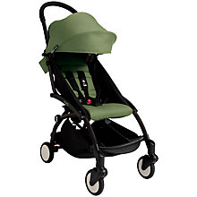 Buy Babyzen Yoyo+ Pushchair, Black/Peppermint Online at johnlewis.com