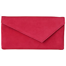 Buy L.K. Bennett Leonie Asymmetric Clutch Bag, Azalea Online at johnlewis.com