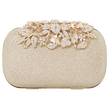 Buy Dune Emberrs Box Clutch Bag, Gold Online at johnlewis.com