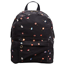 Buy French Connection Naomi Embroidered Backpack, Black Online at johnlewis.com
