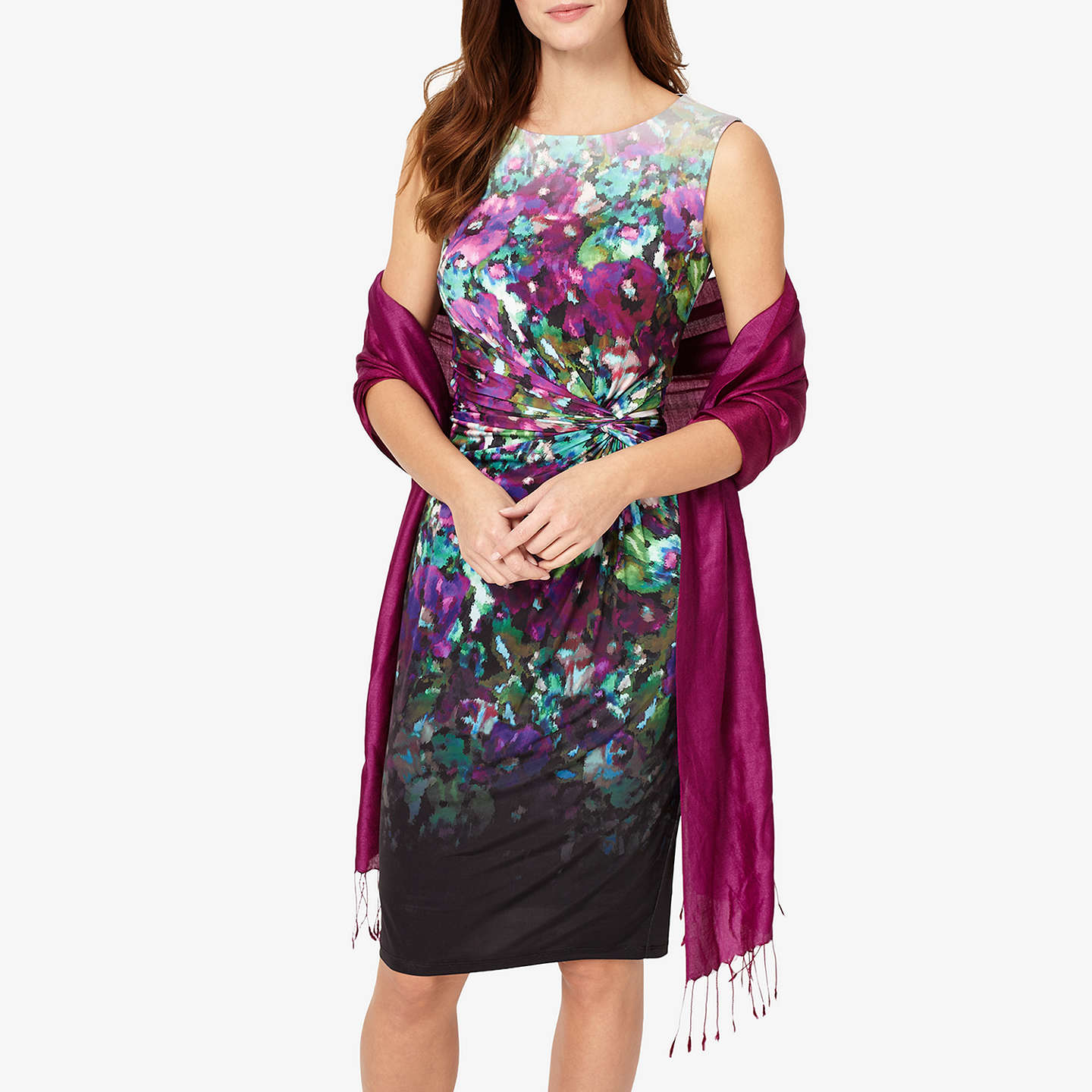 BuyPhase Eight Diamond Weave Pashmina, Garnet Online at johnlewis.com