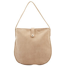 Buy Hobbs Suede Richmond Hobo, Sand Online at johnlewis.com