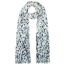 Buy Jigsaw Dancing Cornflower Silk Scarf, Ivory Online at johnlewis.com