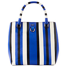 Buy Karen Millen Stripe Mini Bucket Bag, Blue/Multi Online at johnlewis.com