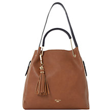 Buy Dune Daura Metal Handle Slouch Shoulder Bag, Tan Online at johnlewis.com