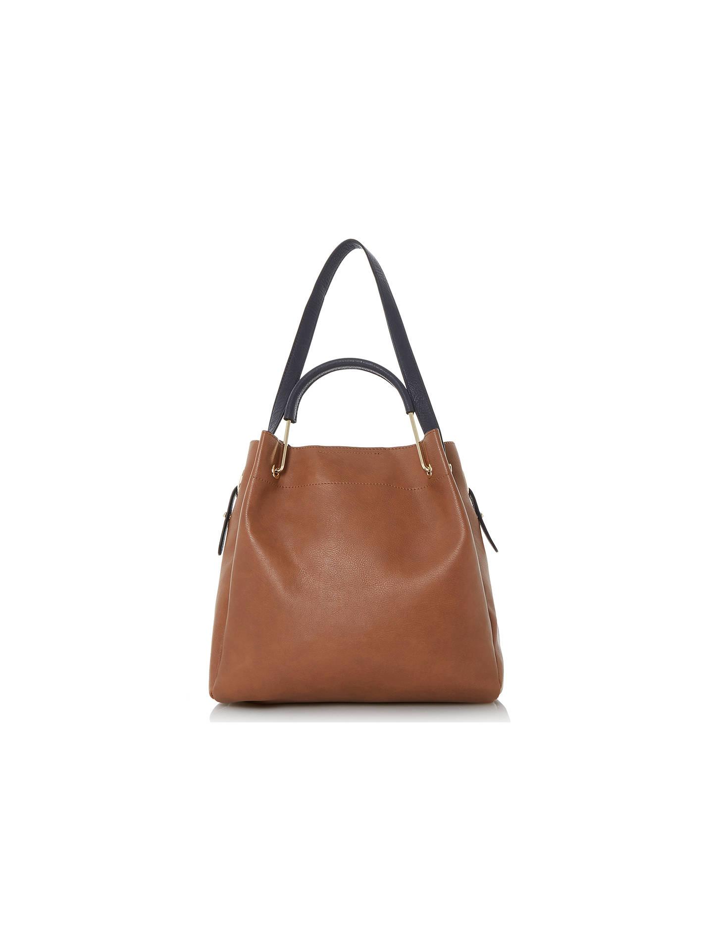 ... BuyDune Daura Metal Handle Slouch Shoulder Bag, Tan Online at  johnlewis.com ... 56c2d8d517
