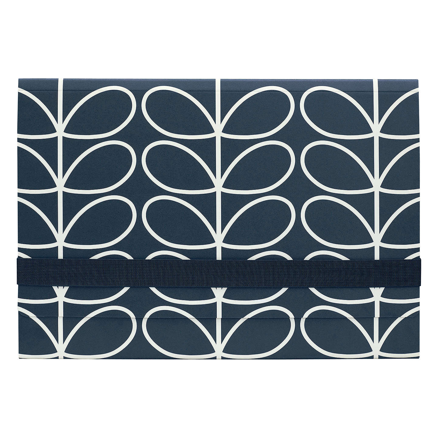 BuyOrla Kiely A4 Document Holder, Navy Online at johnlewis.com