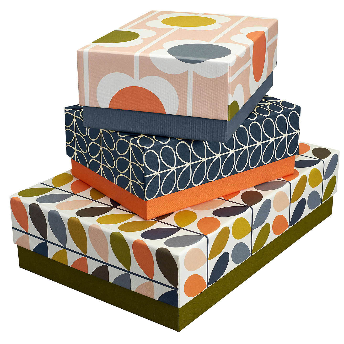 BuyOrla Kiely Floral Storage Boxes, Set of 3 Online at johnlewis.com
