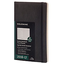 Buy Moleskine Soft 18 Month Weekly Notebook Planner, Large Online at johnlewis.com