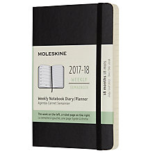 Buy Moleskine 18-Month Pocket Weekly Diary/Notebook 2017/2018 Planner Online at johnlewis.com