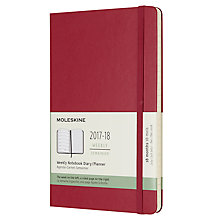 Buy Moleskine 18-Month Large Weekly Diary/Notebook 2017/2018 Planner Online at johnlewis.com
