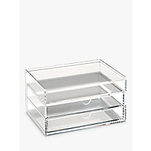 Buy Osco Acrylic 3 Drawer Storage Unit With Lid Online at johnlewis.com