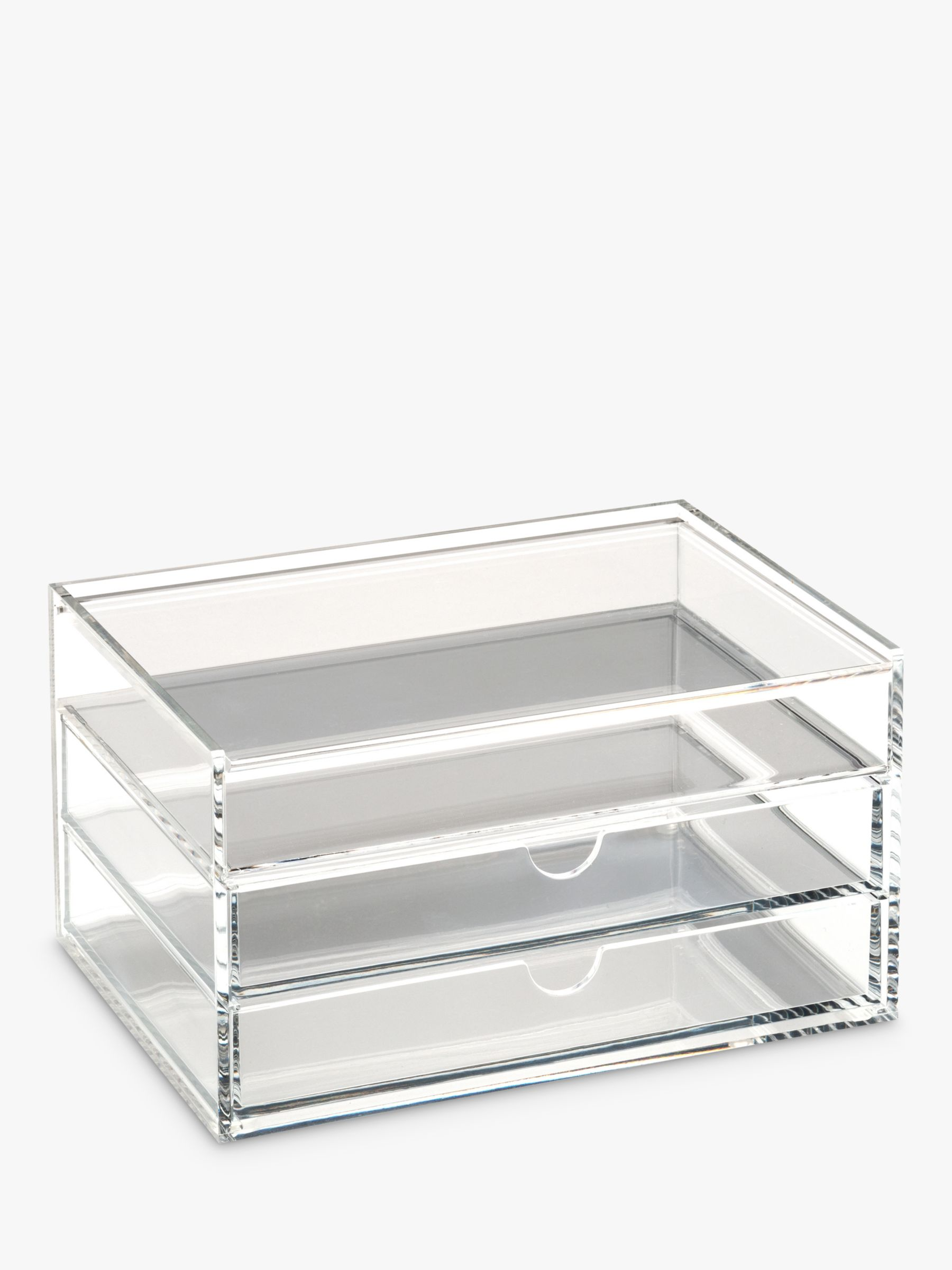 Osco Osco Acrylic 3 Drawer Storage Unit With Lid