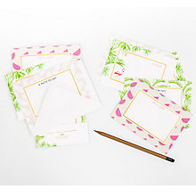 Buy Abigail Warner Tropical Notecards, Pack of 8 Online at johnlewis.com