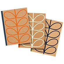 Buy Orla Kiely Large Kraft Notebooks, Pack of 3 Online at johnlewis.com