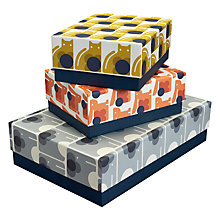 Buy Orla Kiely Animals Storage Boxes, Pack of 3 Online at johnlewis.com