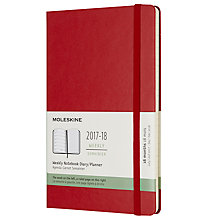 Buy Moleskine Hard 18 Month Weekly Notebook Planner, Large Online at johnlewis.com