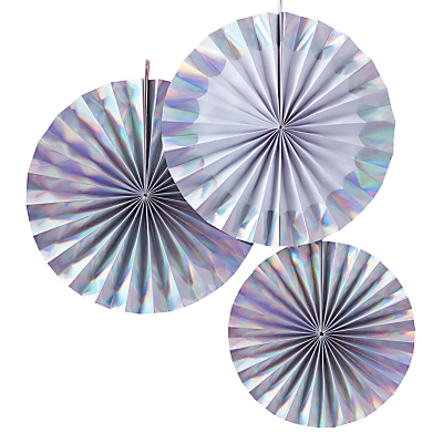 Ginger Ray Iridescent Hanging Fan Decorations